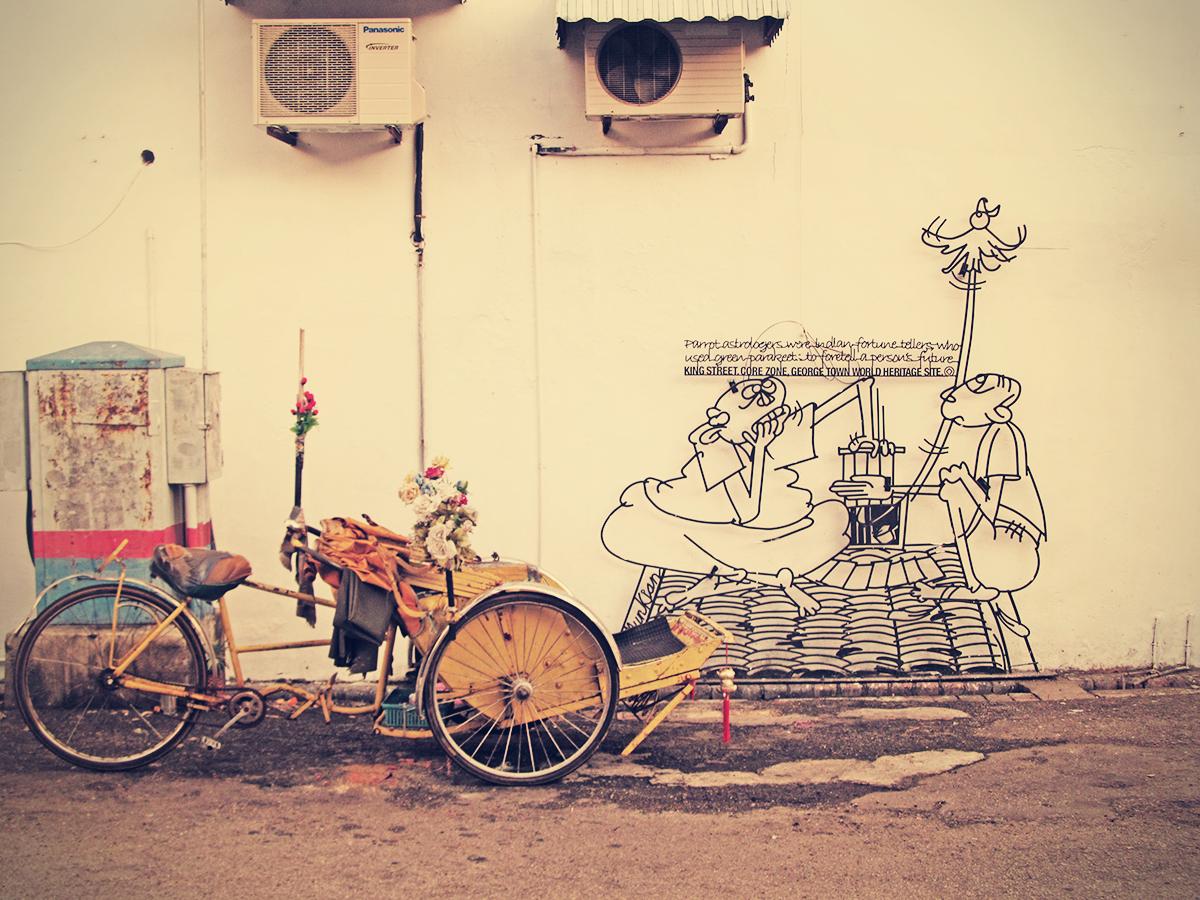 Penang Street Art (The Fortune Teller) | Perspective of Penang