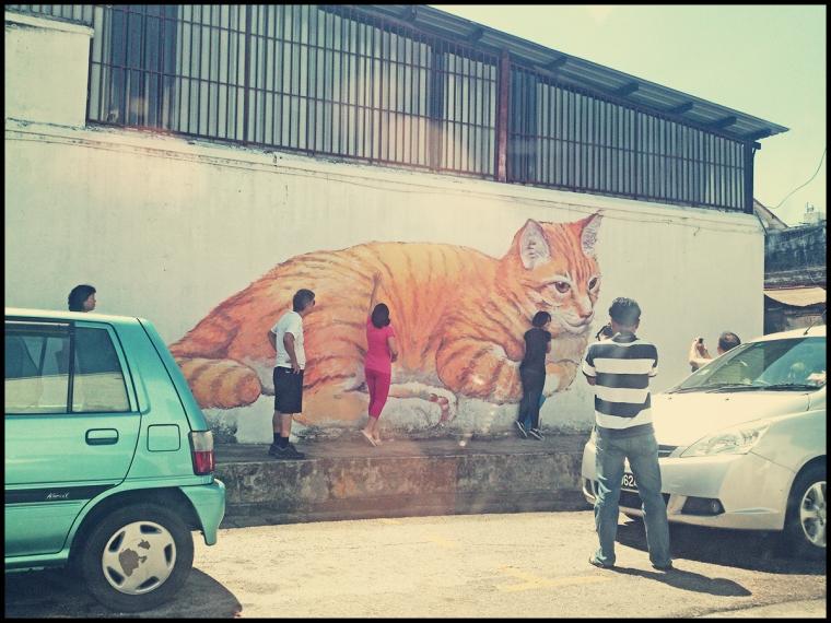 Giant Cat Mural