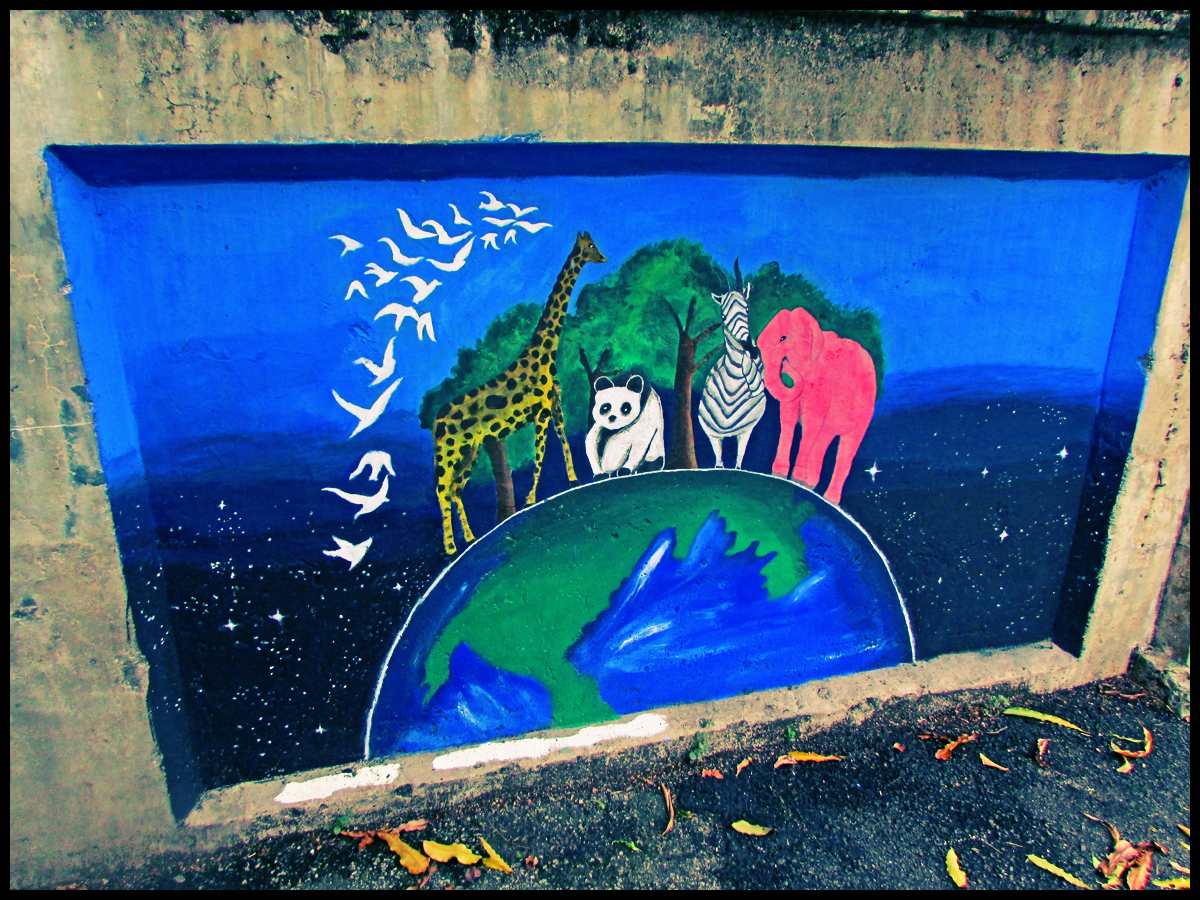 Penang street art earth and environment murals for Earthrise mural