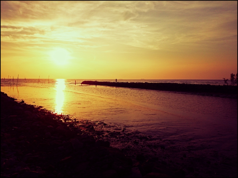 Sunset in Sungai Burong