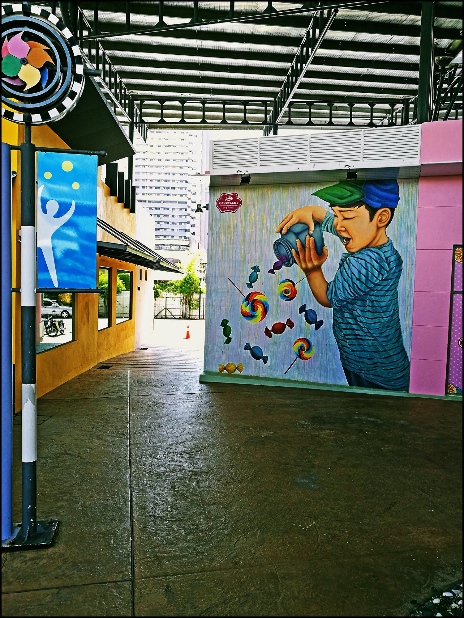 Penang Street Art The Candy Boy Perspective of Penang